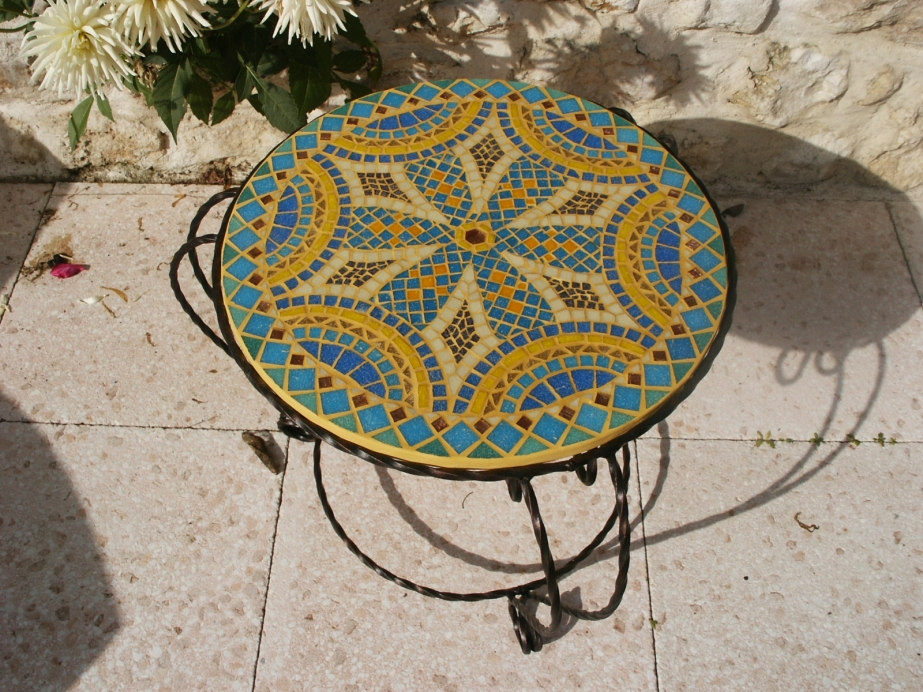 table fer forg mosaique interesting best exceptional table jardin fer forge with table fer forg. Black Bedroom Furniture Sets. Home Design Ideas